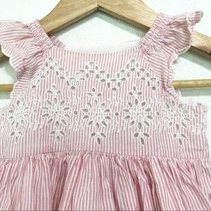 GAP Dresses - Baby Gap Striped Eyelet Sundress